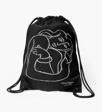 TAHITIAN LADY : Vintage Matisse Black and White Painting Print Drawstring Bag