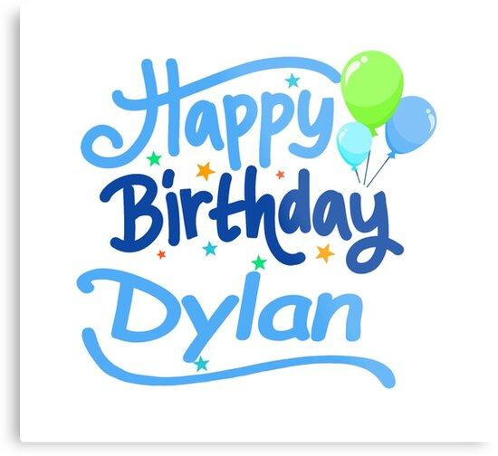 Joyeux Anniversaire Dylan Impressions Metalliques Par Pm Names
