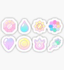 Vaporwave Kanto Badges Sticker