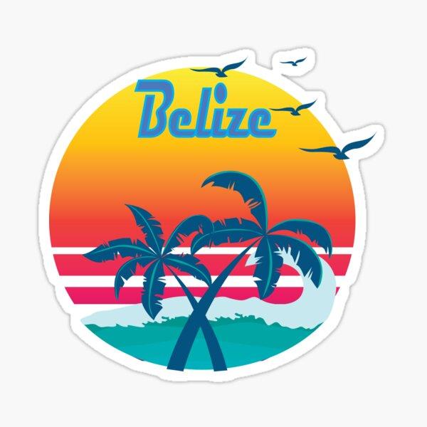 Belize, summer retro vintage Sticker