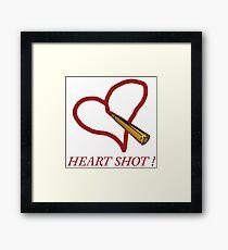 Heart shot! Framed Print
