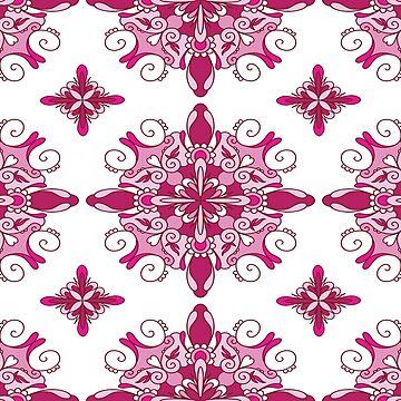 Rosy mandala glam by peggieprints