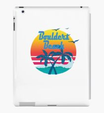 Boulders Beach, summer retro vintage iPad Case/Skin