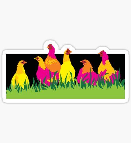 Neon Chooks Chickens Sticker