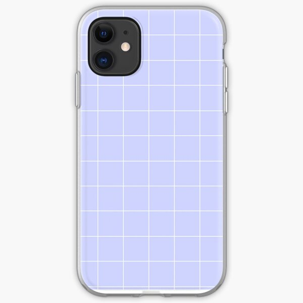 Aesthetic Purple Grid iPhone Soft Case