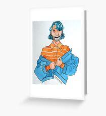 Jean jacket Nonbinary Greeting Card