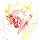 Fire Splatter Horse by RavensLanding