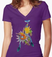 Chymereon Women's Fitted V-Neck T-Shirt