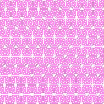 Girly Pink Geometric Flowers and Florals Isosceles Triangle by taiche