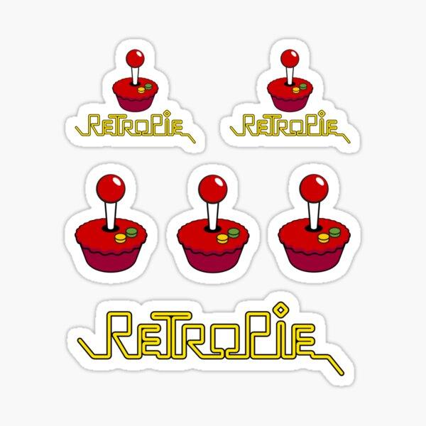 Ensemble d'autocollants RetroPie Logo Sticker