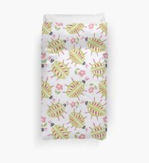 Green Bugs With Wooden Legs Duvet Cover