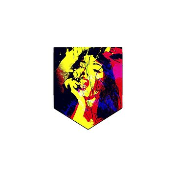 Pop Art Hot Girl | Pocket T-shirt Art by CarlosV
