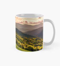 gorgeous sunset over Carpathian mountains Mug