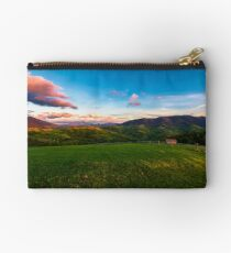 gorgeous mountainous countryside at dusk Studio Pouch