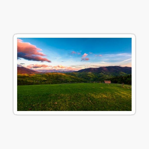 gorgeous mountainous countryside at dusk Sticker