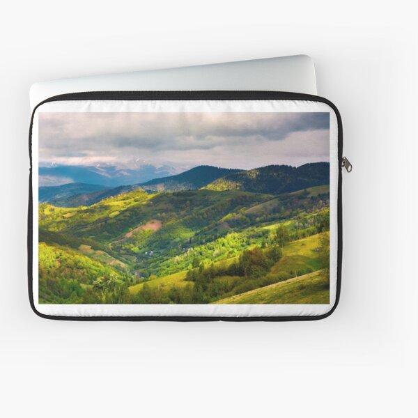 springtime in mountainous countryside Laptop Sleeve