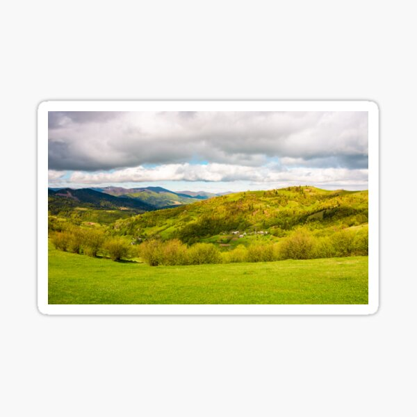 lovely rural scenery in mountains Sticker