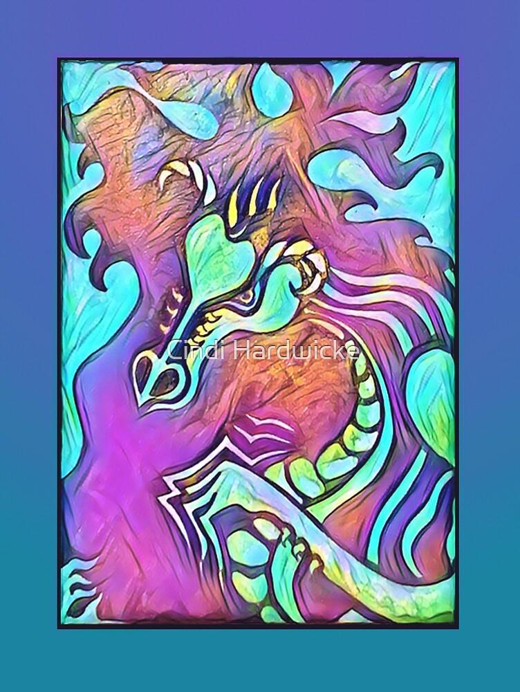 Rainbow Fire Dragon by Cindi Hardwicke