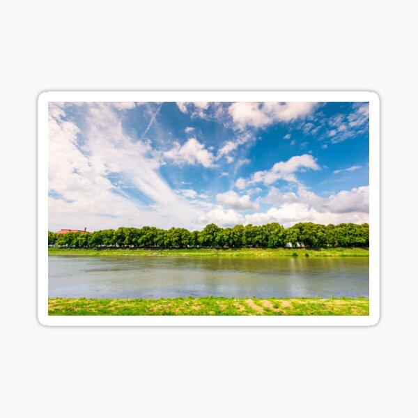 embankment of the river Uzh Sticker