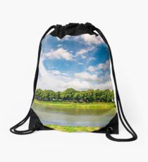 embankment of the river Uzh Drawstring Bag