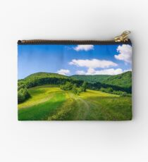 beautiful panorama of mountainous countryside Studio Pouch