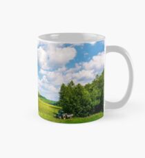 agricultural fields on hills Mug