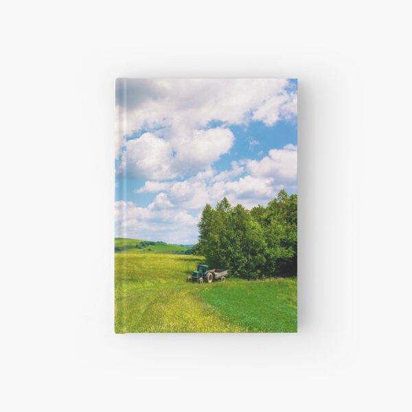agricultural fields on hills Hardcover Journal
