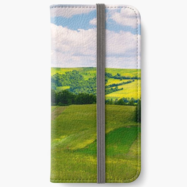 agricultural fields on hills iPhone Wallet