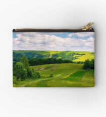 agricultural fields on hills Studio Pouch