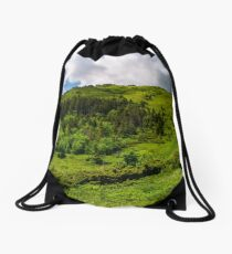 narrow path to the mountain top Drawstring Bag