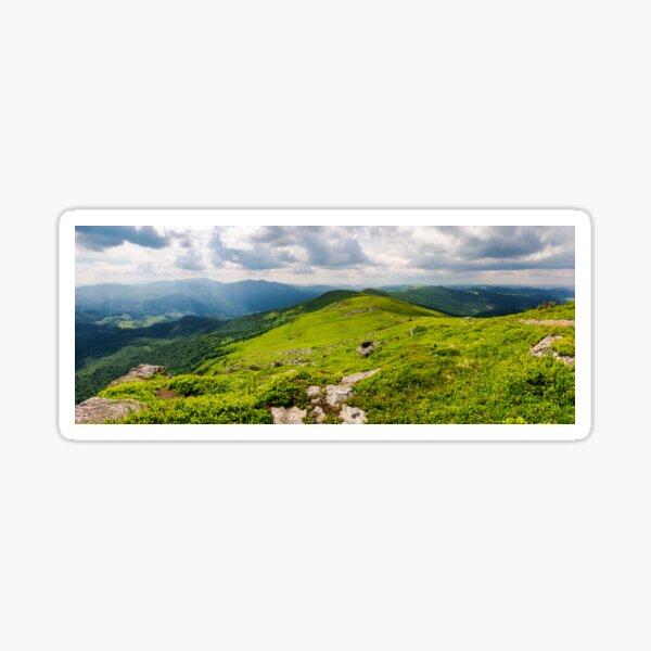 panorama of great Carpathian water dividing ridge Sticker