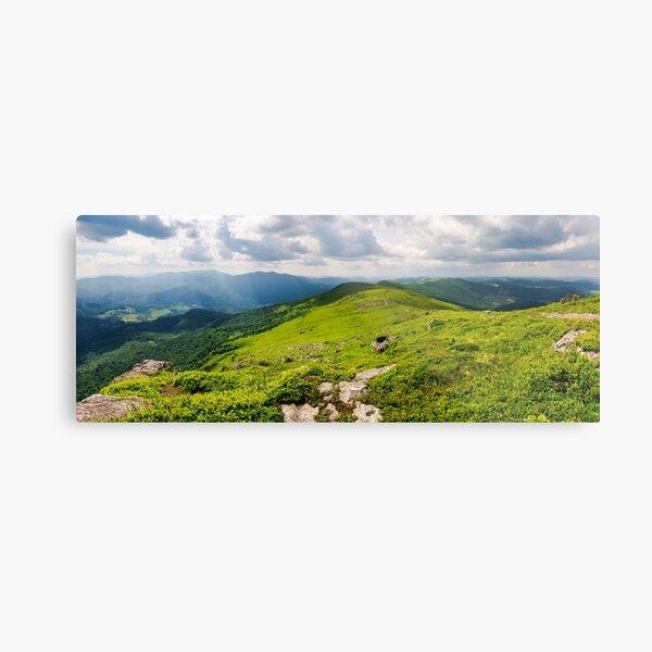 panorama of great Carpathian water dividing ridge Metal Print