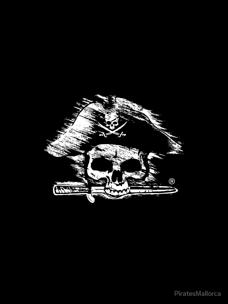 Pirates Adventure Mallorca Merchandise Skull Black by PiratesMallorca