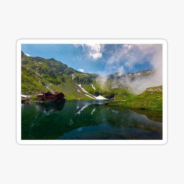beautiful landscape of Balea Lake Sticker
