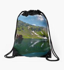 beautiful landscape of Balea Lake Drawstring Bag