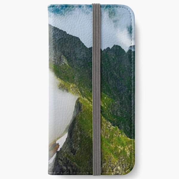 clouds rising in Fagaras mountains iPhone Wallet