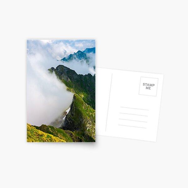 clouds rising in Fagaras mountains Postcard