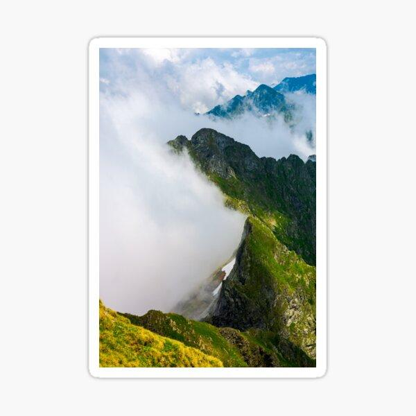 clouds rising in Fagaras mountains Sticker