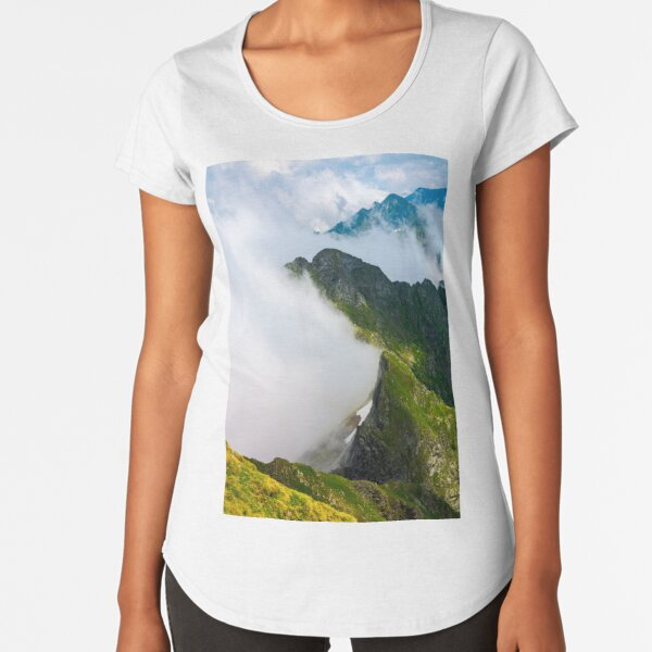 clouds rising in Fagaras mountains Premium Scoop T-Shirt