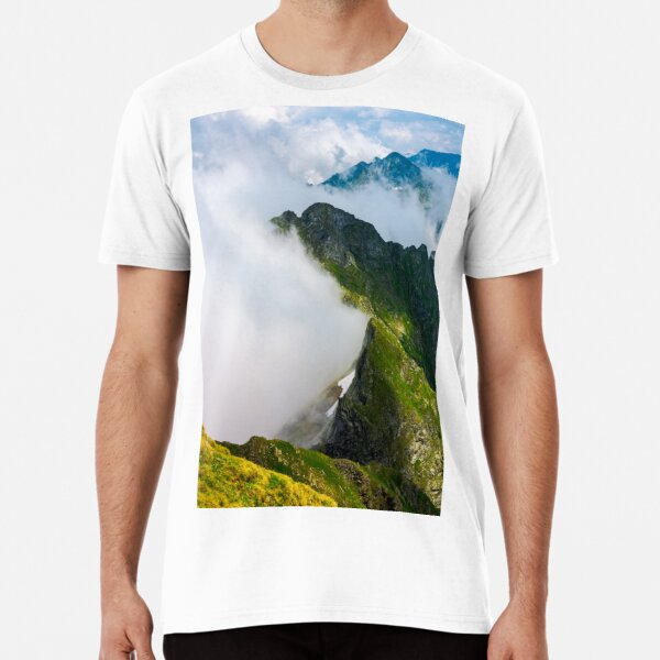 clouds rising in Fagaras mountains Premium T-Shirt