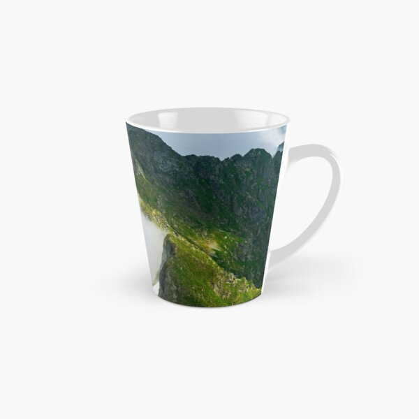 clouds rising in Fagaras mountains Tall Mug