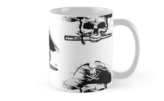 Pirates Adventure Mallorca Merchandise  Skull White Pattern by PiratesMallorca