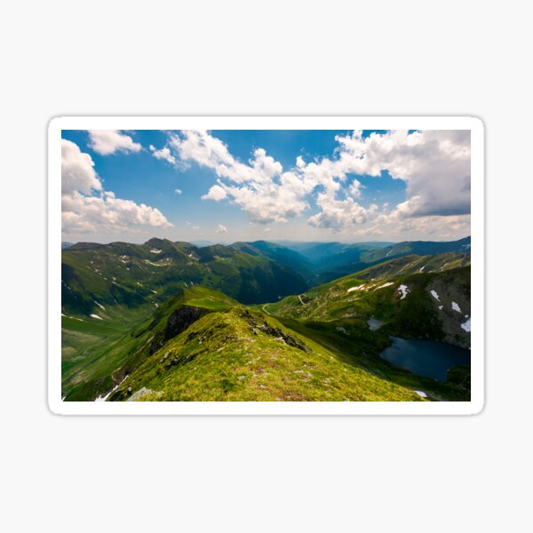 view from Saua Vaiuga in to the Valley of Fagaras Sticker