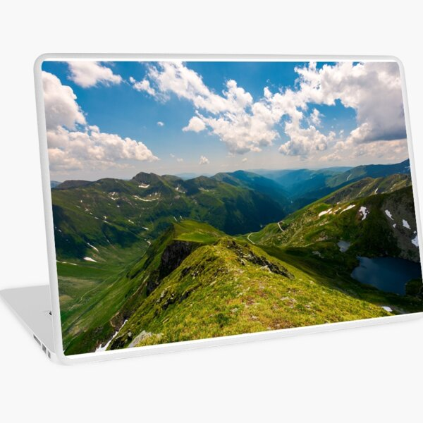 view from Saua Vaiuga in to the Valley of Fagaras Laptop Skin