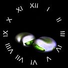 Two Broad Beans White Roman Numbers Wall Clock by Alan Harman