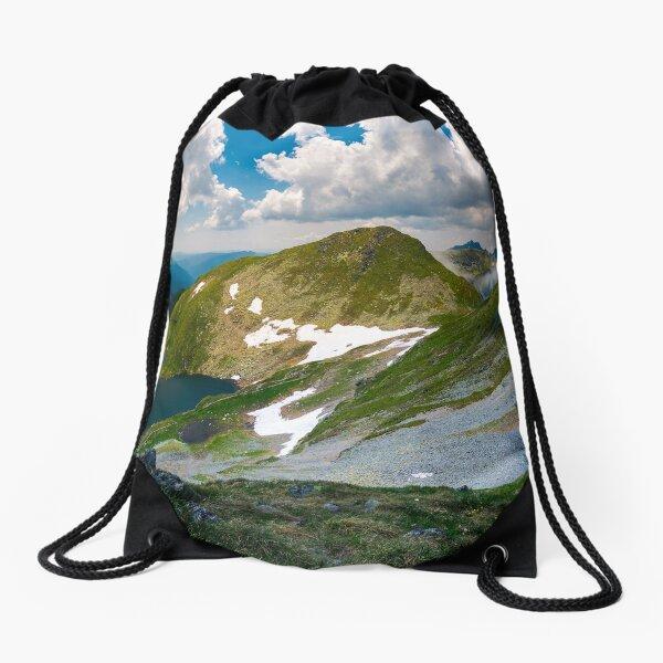 saua caprei peak of Fagarasan mountains Drawstring Bag
