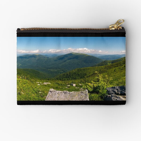 gorgeous panoramic landscape on Runa mountain Zipper Pouch