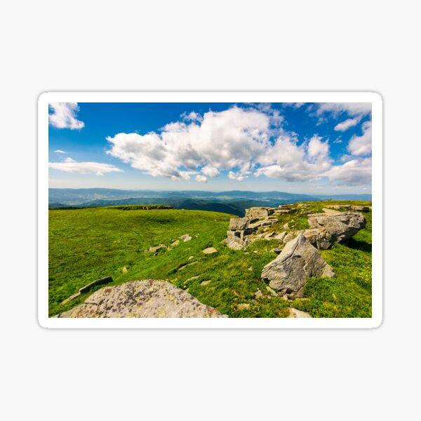 huge boulders on the edge of hillside Sticker