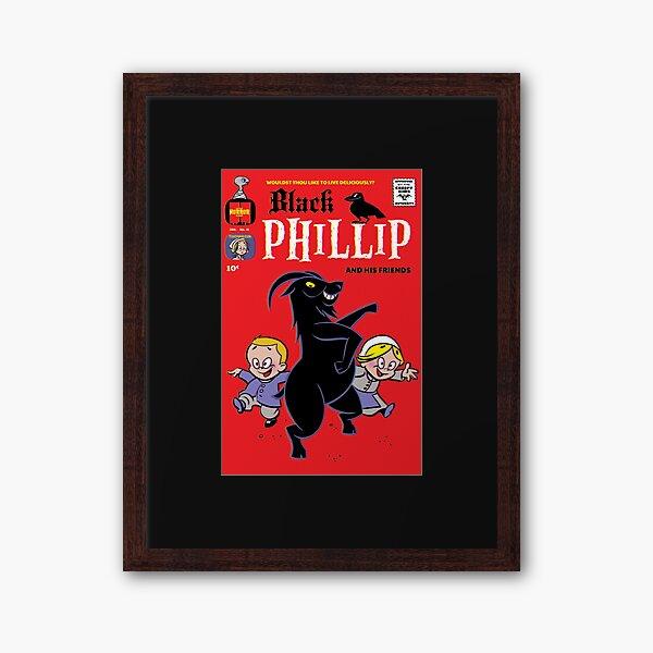 Little Horror Flicks - Black Phillip and his Friends Framed Art Print