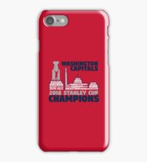 Washington Capitals 2018 Stanley Cup Champions Roster in City Skyline iPhone 7 Case